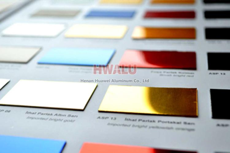 anodized aluminum colors